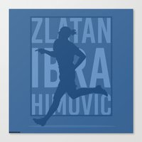 zlatan Canvas Prints featuring Zlatan Ibrahimovic by Mountain Top Designs