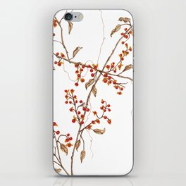Of red and leaves iPhone Skin