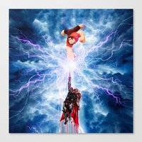 wreck it ralph Canvas Prints featuring THOR vs RALPH by Raisya
