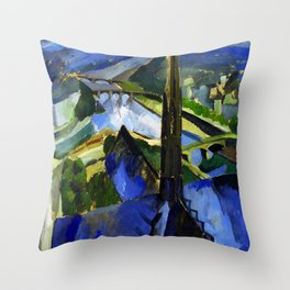 """Robert Delaunay """"The Spire of Notre Dame""""(1909-1910) Throw Pillow"""