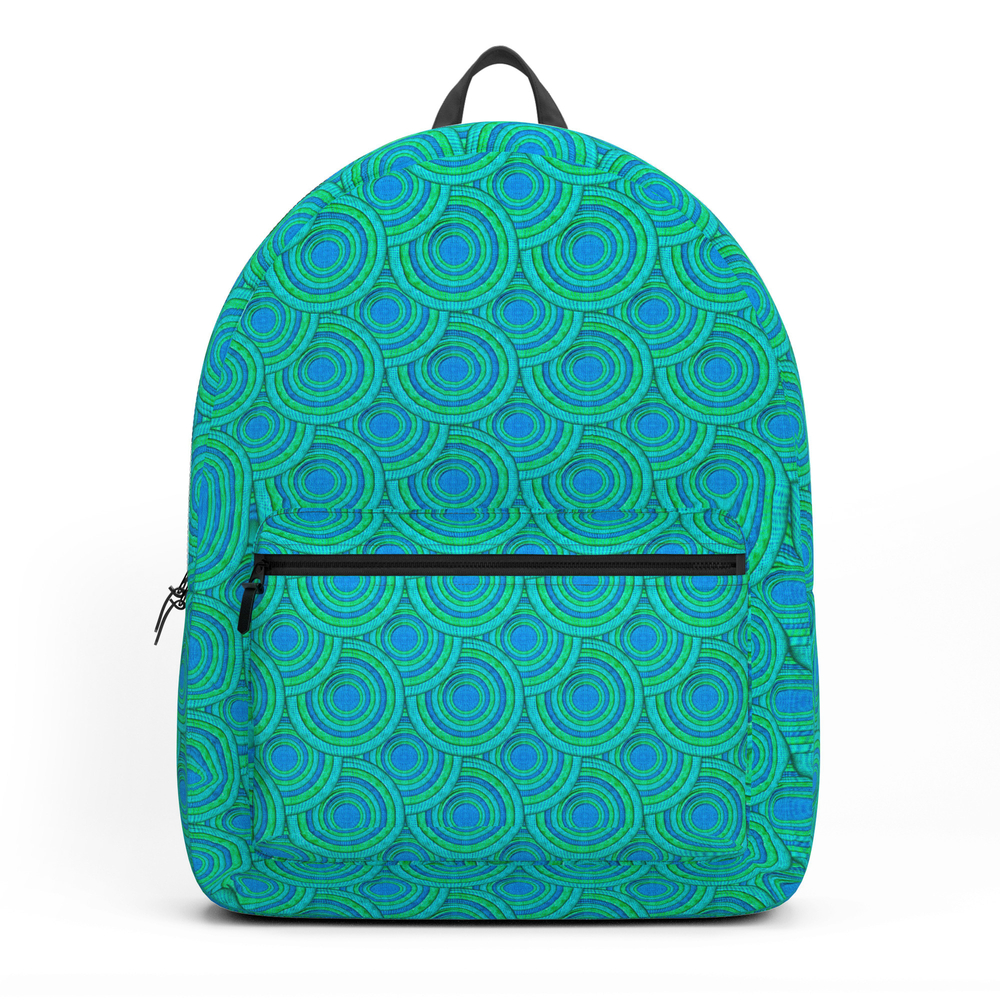 Teal Parasols Pattern Backpack by petergross (BKP3164250) photo