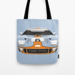 Ford GT40 in Gulf Oil livery Tote Bag