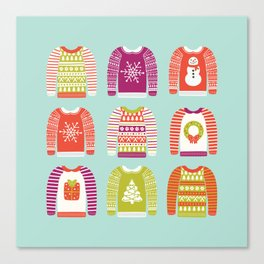 Ugly Christmas Sweaters Canvas Print