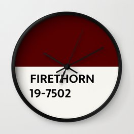 Firethorn Chip Wall Clock