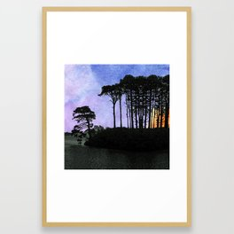 No one can gaze on the night without vertigo Framed Art Print