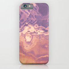Gold violet pattern iPhone 6s Slim Case
