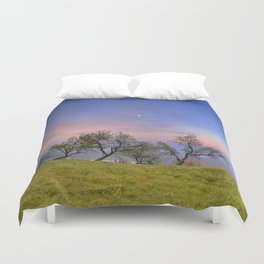 Almonds and Moon Duvet Cover
