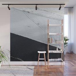 Abstract black lava beach Wall Mural