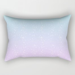 Turquoise and Lavender Pastel Bokeh Effect Ombre Rectangular Pillow
