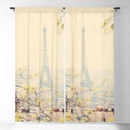 the Eiffel tower from atop Montmartre, Paris ... Blackout Curtain
