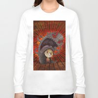 fear Long Sleeve T-shirts featuring Fear by José Luis Guerrero
