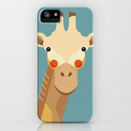 Giraffe, Animal Portrait iPhone Case