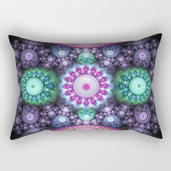 Decorative round patterns, fractal abstract Rectangular Pillow