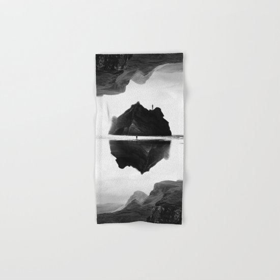 Black and White Isolation Island Hand & Bath Towel