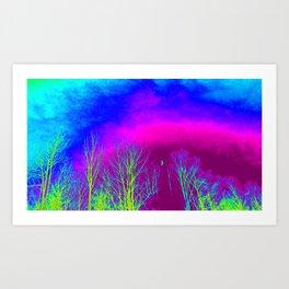 Magenta Sky Art Print