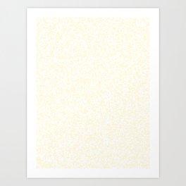 Tiny Spots - White and Cornsilk Yellow Art Print
