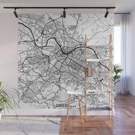 Dresden Map Gray Wall Mural