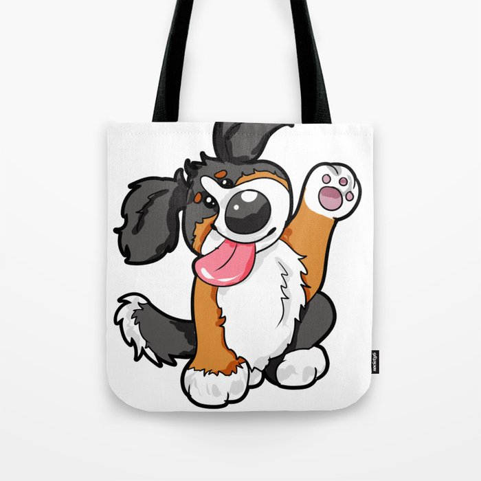 Bernese Mountain Dog Puppy Gift Present Cartoon Tote Bag By Moonpie90