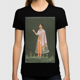Royal Woman Holding a Flower - 17th Century Classical Indian Art T-shirt