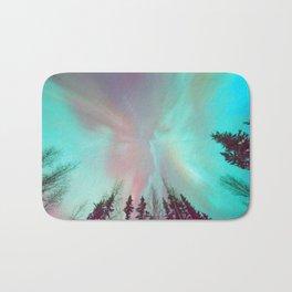 Deep Pastel Aurora Borealis Bath Mat
