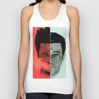 tyler durden Tank Tops featuring Tyler Durden V. the Narrator by qualitypunk