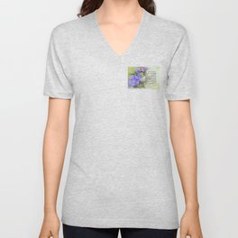 Serenity Prayer Morning Glories Glow Unisex V-Neck