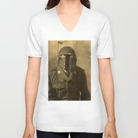 general V-neck T-shirts featuring General Fettson   by Terry Fan