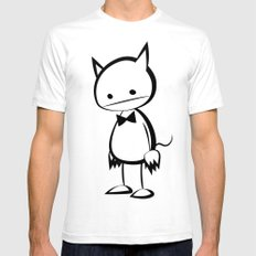 minima - au diable SMALL Mens Fitted Tee White