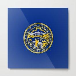 flag Nebraska,america,usa,cornhusker,nebraskan, great plains,midwest,Omaha,Lincoln,Kearney Metal Print