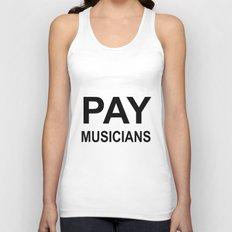 PAY MUSICIANS Unisex Tank Top