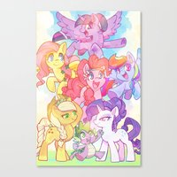 mlp Canvas Prints featuring MLP-Crystal Ponies by ©BONUS-LEVEL