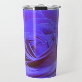 Purple Blue Rose Travel Mug