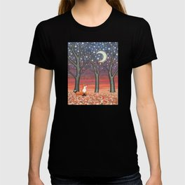 fox & fireflies T-shirt