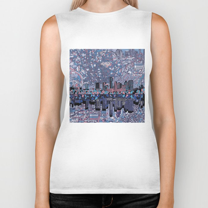 austin texas city skyline Biker Tank