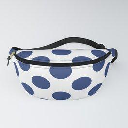 Navy Large Polka Dots Pattern Fanny Pack
