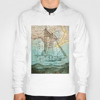 sailboat Hoodies featuring Mom's Sailboat by Brittany Rae