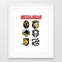 metal gear Framed Art Prints featuring Metal Gear by Khaled