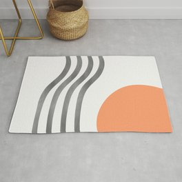 Abstract sunset Rug