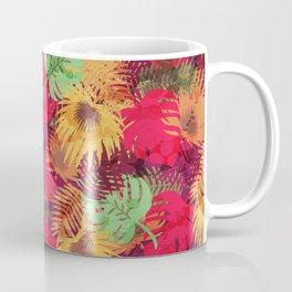 Seamless Pattern of Tropical Leaves Coffee Mug