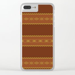 Tradition Carpet Clear iPhone Case