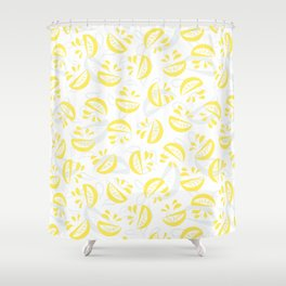 Abstract Lemonade 5 Shower Curtain