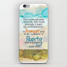 Inspirational Quote - Joan Miro - Alcohol Ink iPhone Skin