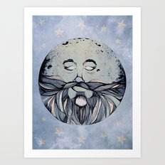 Moon & The Stars Art Print