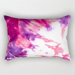Modern Artsy Abstract Neon Pink Purple Tie Dye Rectangular Pillow