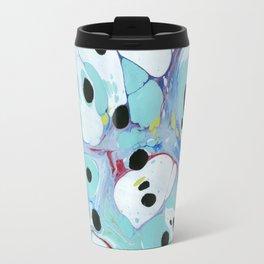 Blue Pebbles with Black Travel Mug