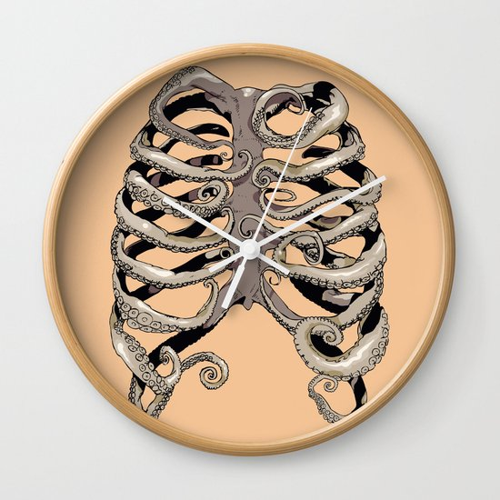 Your Rib is an Octopus Wall Clock