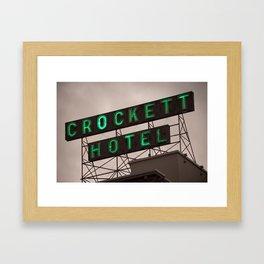 Crockett Hotel Vintage Neon - San Antonio Framed Art Print