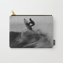 Surf black white Carry-All Pouch