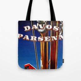 Vintage Davos Parsenn Switzerland Tote Bag