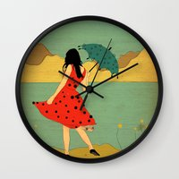 lonely Wall Clocks featuring Lonely by Danelys Sidron